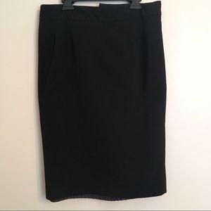 Mixit Stretch Black Pencil Skirt